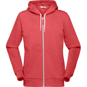 Norrøna /29 Cotton Zip Hoodie Women Crisp Ruby